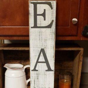 🔥HOT DEAL🔥NEW Handmade White Farmhouse EAT Sign